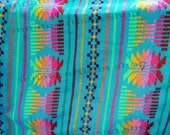 Fabric, by yard Mexican cambaya, Reboseo fabric, table runners, Aztec fabric, ethnic decor, apparel