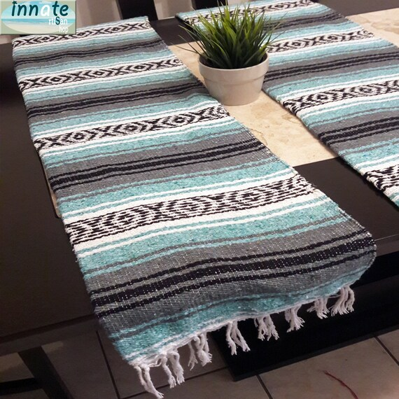 Strange Mexican Blanket Table Runner Mexican Table Runners Blanket Mexican Decor Ethnic Cinco De Mayo Wedding Fiesta Chic Boho Chic Green Download Free Architecture Designs Intelgarnamadebymaigaardcom
