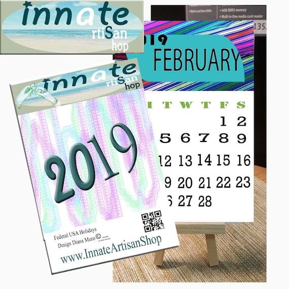 2019 Download Big Numbersfederal Usa Holidaysdownloadmini Etsy