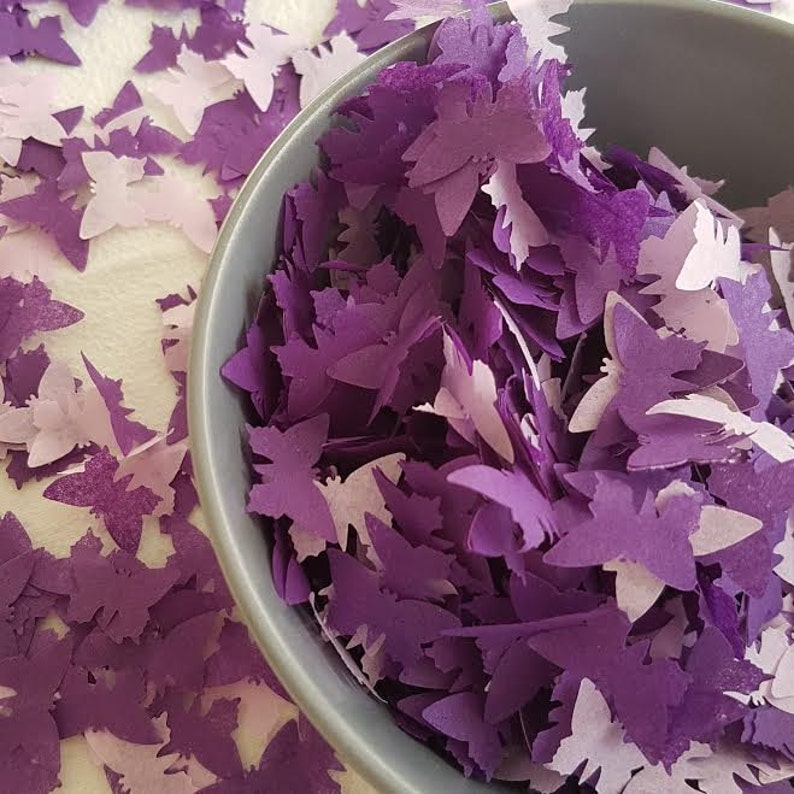 6d0a7980e14 Purple & Lavender throwing confetti /spring and summer Wedding/Birthday/  Baby shower/ tissue paper party and table decor confetti