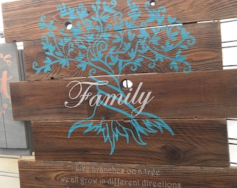 Family Tree wood sign