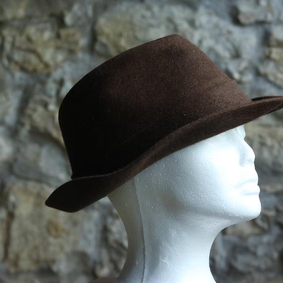 Vintage Original Italian Borsalino Fedora Wool Br… - image 10