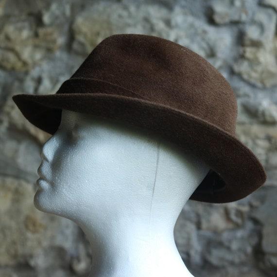 Vintage Original Italian Borsalino Fedora Wool Br… - image 7