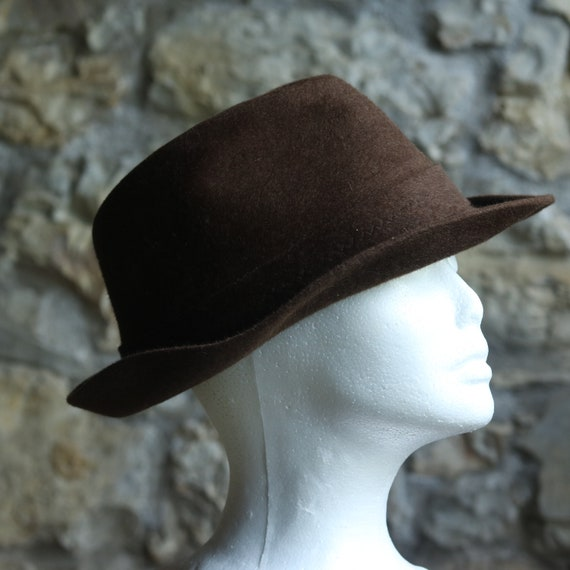 Vintage Original Italian Borsalino Fedora Wool Bro