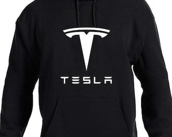 2XL MEN/'S unisex Tesla Logo Felpa con cappuccio con zip modello S x 3 Elon Auto Nero Maglione XS