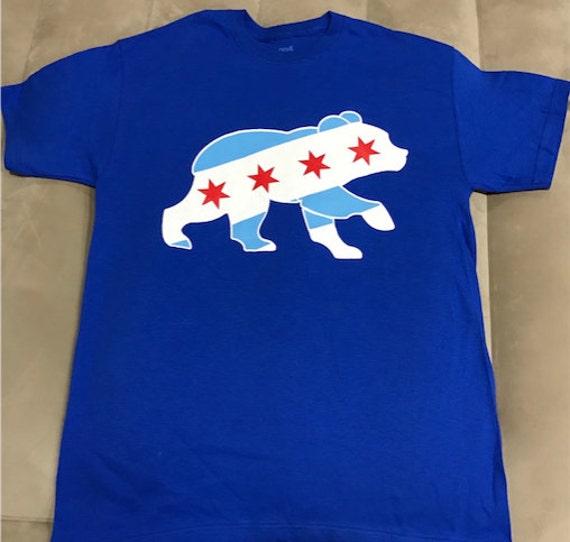 buy online 019f1 4247a Chicago Cubs Bear Logo Chicago Flag T-ShirtChicago Cubs W Shirt Cubs Win  Shirt Fly the W Shirt 2016 World Series Shirt Chicago Cubs T-Shirt