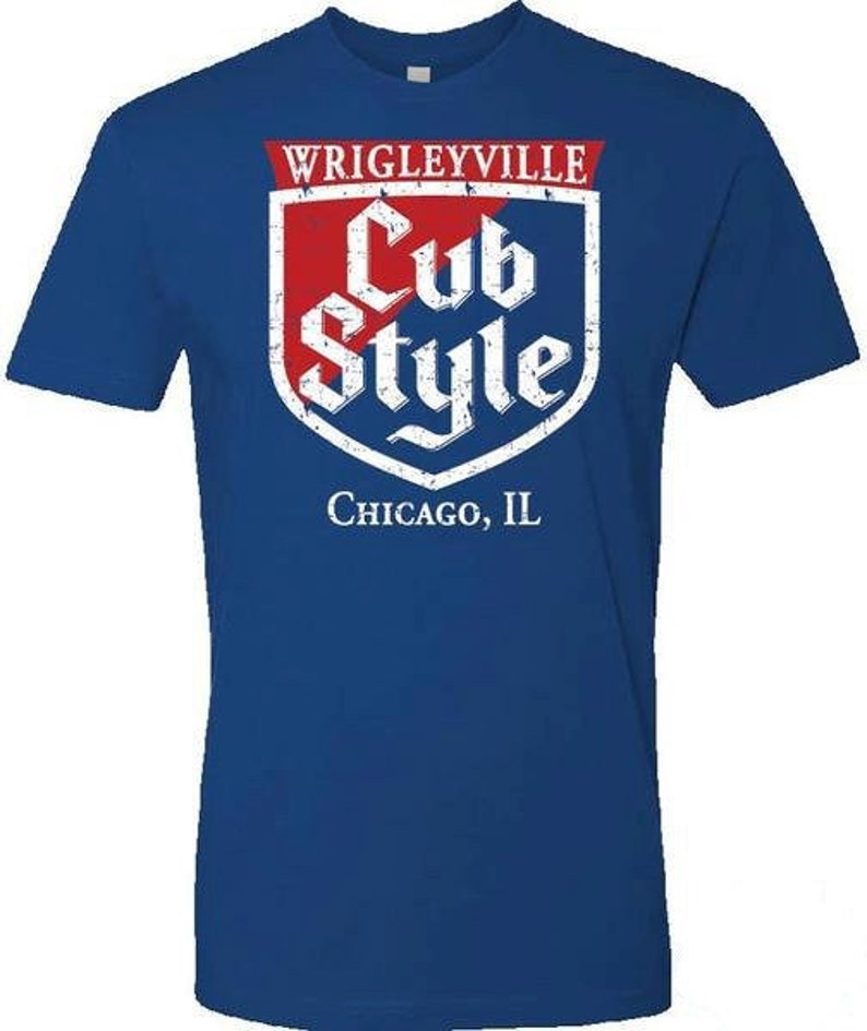 698bc5c3c Chicago Cubs Wrigley Field Win Cub Style T-Shirt FREE SHIPPING | Etsy