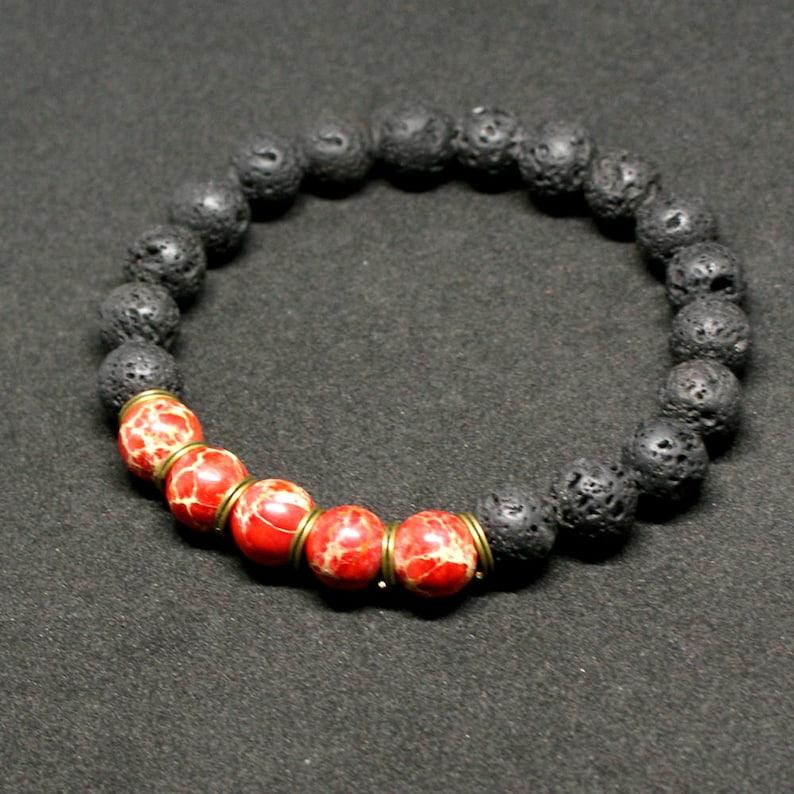 taille 40 cc654 13ef0 BRACELET HOMME mens RED bracelet red bracelet black bracelet beaded  bracelet bijoux homme root chakra bracelet braccialetto maschile rosso