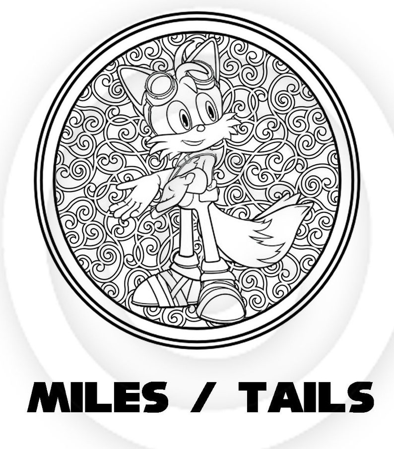 Sonic The Hedgehog Printable Relaxing Child Teen Adult | Etsy
