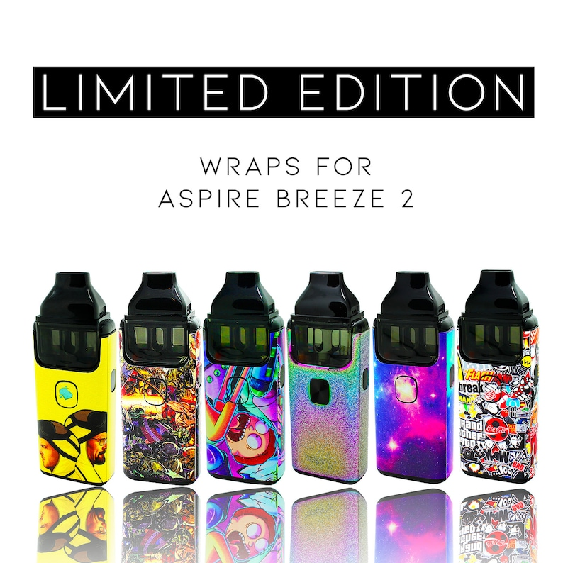 Custom Skin Decal for Aspire Breeze 2 (Decal Only, Device is Not Included)  - Vinyl Wrap Protective Sticker by VCG Customs