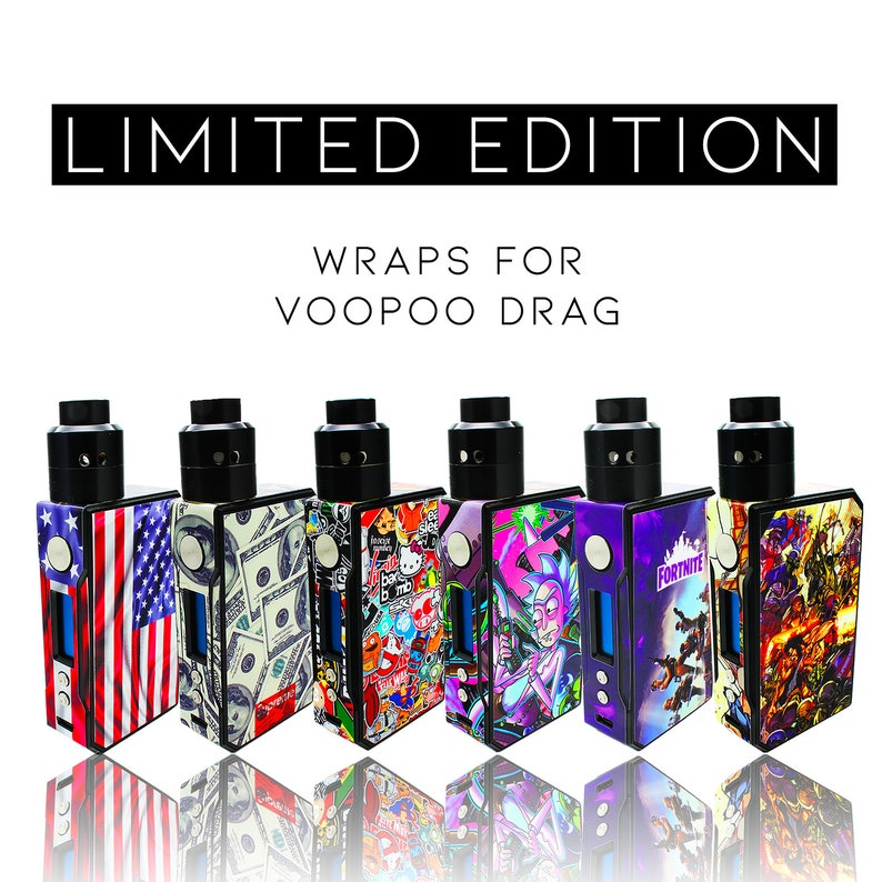 Custom Skin Decal for VOOPOO Drag (Decal Only, Device is Not Included) -  Vinyl Wrap Protective Sticker by VCG Customs