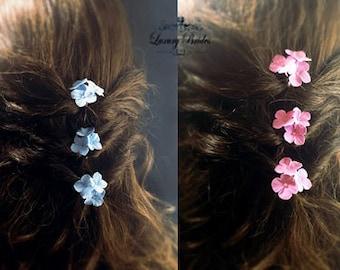 Bridal Hair Clips, Wedding Flowers Pins, Bridal Hair Accessories, Flower Hair Pin, Small Flower Pin, Clay Flower Pin, Bridal Flower Pin