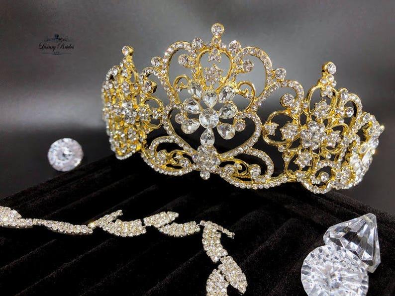 65f77ee906f3 Bridal Tiara Swarovski Crystal Tiara Gold Tiara Wedding