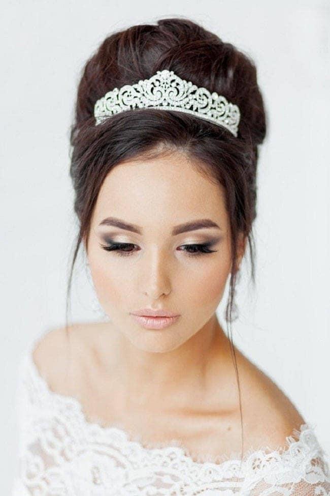 Capelli cristallo d/'argento Tiara WEDDING TIARA CORONA DIADEMA PRINCIPESSA Sposa Cristalli