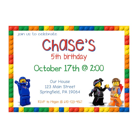 image relating to Printable Lego Birthday Invitations identified as Lego Birthday Celebration Invitation - Customize and Print at Household