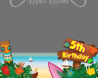 Hawaiian Luau Birthday Party SnapChat Filter, Luau Party Geofilter