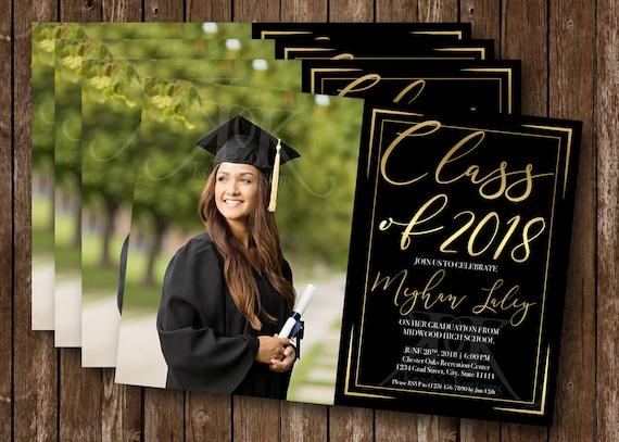High School College Graduation Invitation Graduation Party Etsy