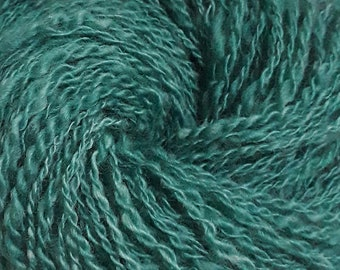 Lot 20, Handspun DK yarn - Malachite green colorway