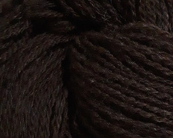 Lot 86, Single-Ply DK Handspun Wool Yarn, natural chocolate brown