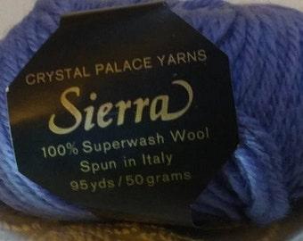 Lot 29, Sierra 100% Worsted Wool Yarn - Super-wash wool yarn, lavender color