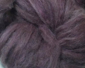Lot 6, Spinner's Roving, plum overdyed natural silver