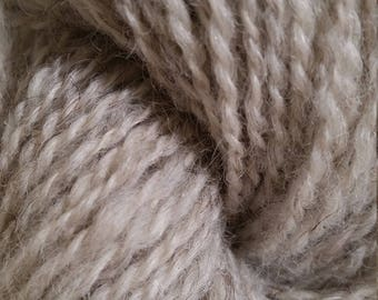Lot 60, Double Ply Handspun DK Wool/Mohair blend Yarn