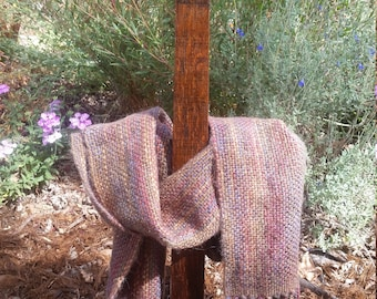 Lot 71, Handwoven wool scarf - multi-colored