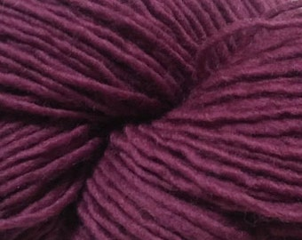 Lot 21, Brown Sheep Co. Yarn, single-ply - magenta-plum color