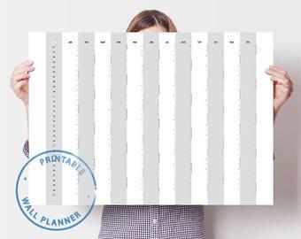 Wall Calendar 2018 Yearly Calendar Printable Calendar Calendar Planner 2018 Wall Calendar 2018 Calendar Minimalist Design