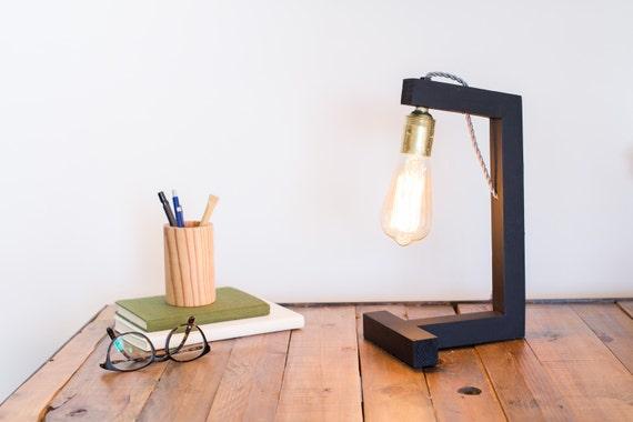 Tableau d edison lampe design fait main lampe bois lampe