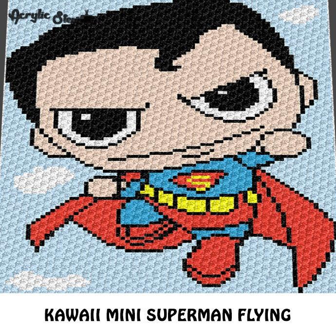 Mini C2c Pattern: Graphgan Pattern Corner To Corner C2C Kawaii Mini Boy