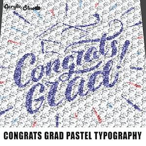 C2C Graphgan Pattern Corner to Corner I/'m Done Graduation Grad Senior Quote Blanket Afghan Crochet Graphgan Graph Pattern Chart