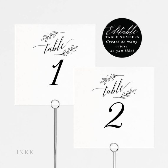 image about Table Number Printable called Rustic Wedding ceremony Desk Quantities Printable, Desk Range Template, Folded Tent Card, Flat Card, Editable Desk Variety Card PDF Template #E005
