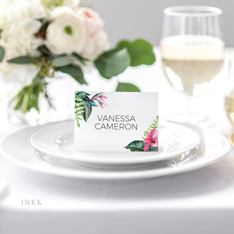 Wedding Place Cards Printable Flat or Folded Tent Place Cards Wedding Place cards for Wedding Editable PDF #E054 Place Card Template