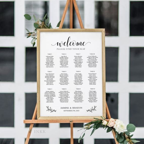 Rustic Lace and Linen DIGITAL FILE Romantic Classic Vintage Wedding Table Plan Seating Chart Printable