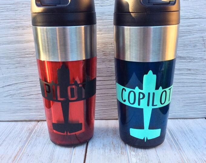 Pilot/Copilot Thermal Mug Set of 2
