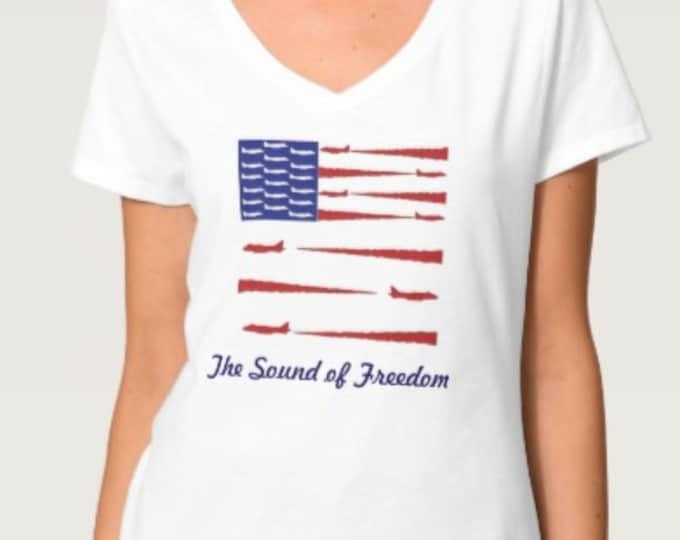 Airplane American Flag T-Shirt