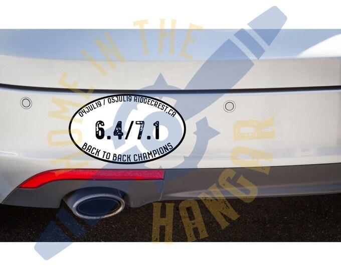 China Lake Earthquake bumper stickers