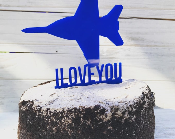 Custom Aviation Cake Topper