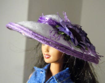 Hot little Barbie summer hat in passionate purple.  Handmade by Nims