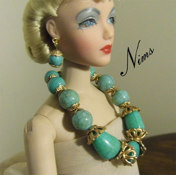 """handmade 16/"""" doll jewelry set necklace earring for 16/"""" Tonner dolls"""