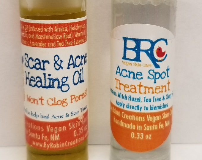 Vegan Acne Healing Oil & Spot Treatment Set