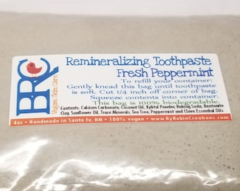 Vegan Remineralizing Toothpaste Refill Bag