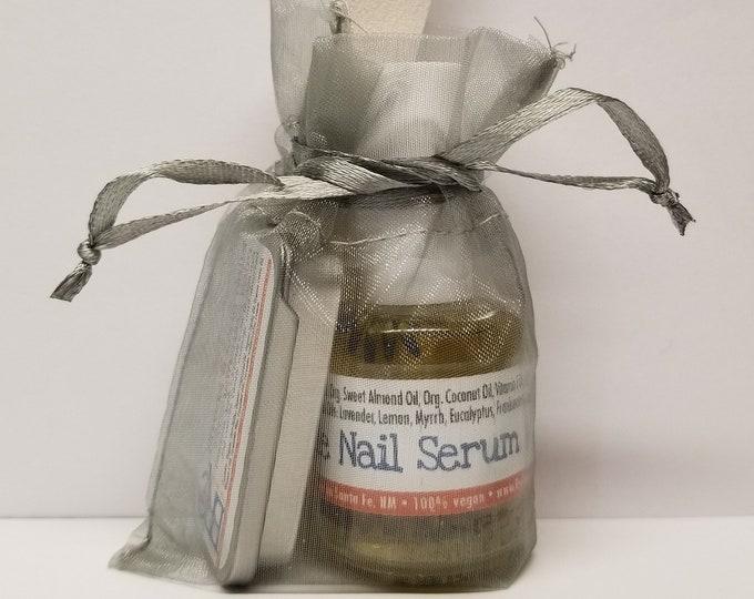 Vegan Brittle Nail Serum & Strengthening Balm Set