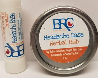 Vegan Herbal Rub & Aromatherapy Inhaler Set