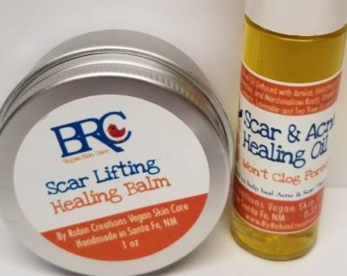 Vegan Scar Lifting Balm & Acne Healing Oil Set