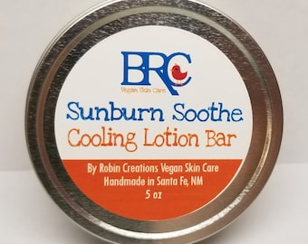 Vegan Soothing Sunburn Lotion Bar
