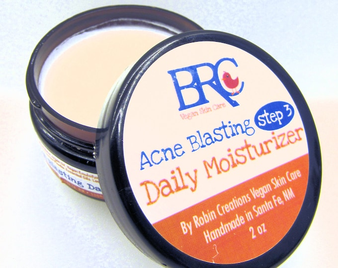 Vegan Daily Moisturizer for Acne - Vegan Acne Care, Acne moisturizer, Clear Skin, Acne Solutions, SPF30 Cream, Teen Acne, Teen Skin Care