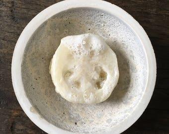 Exfoliating loofah soap