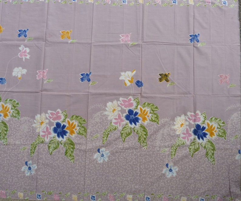 Handmade Indonesian Batik Opened Sarong Tuli from Pekalongan